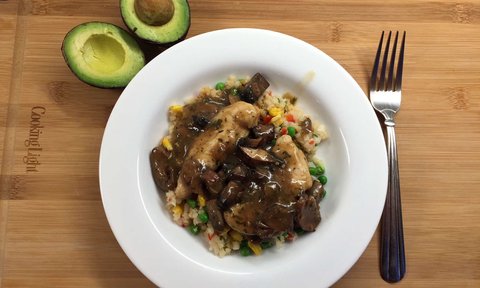 Keto Chicken Marsala & Cauliflower Rice