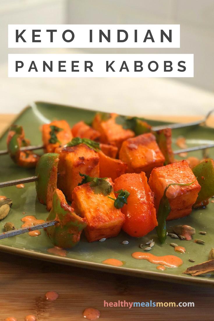 Easy Keto Recipes Indian Paneer Kabobs Recipe