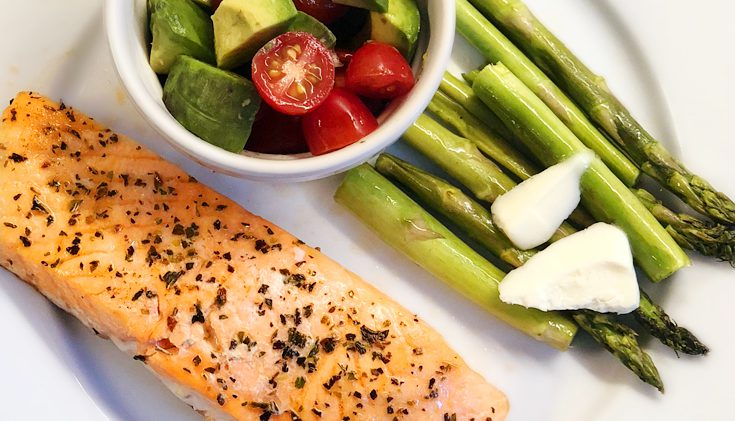 Keto Salmon with Asparagus